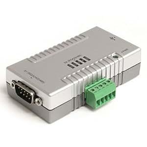 StarTech.com ICUSB2324852 - Adaptador concentrador Hub industrial USB a 2 puertos serie (con retención COM serial DB9 bloque de terminales)