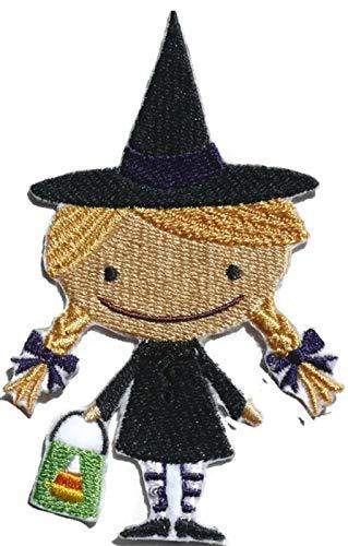 Personalizado y único [Happy Halloween Boo Crew bruja] hierro bordado en/parche Sew