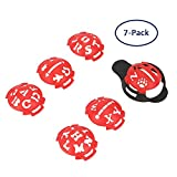 #6: Echeer Golf Ball Marker, Golf Ball Line Makers Golf Ball Line Drawing Marking Alignment Putting Tool, Template Drawing Mark Alignment Putting Tool for Golfer Training Accessories (Pack of 7)