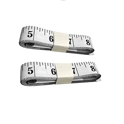 Giveet 2 unidades suave cinta métrica, 60 pulgadas 150 cm double-scale pérdida de peso cuerpo medición regla de costura...
