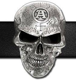 Omega Skull Belt Buckle ()