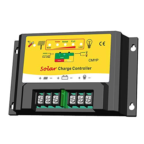 TOTAMEND Solar Controllers | 12V 24V auto Solar Charge Controller PWM Battery Regulator 10A 20A for Solar Off Grid System