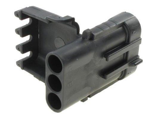 (Automotive Connectors 3P MALE BLK 20 AMP WEATHER PACK SHROUD (10 pieces))