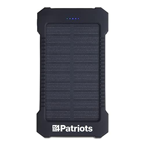 4PATRIOTS Patriot Power Cell: Portable Solar Bank black