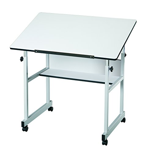 Alvin MM36-5 MiniMaster Table Gray Base with White Top by Alvin