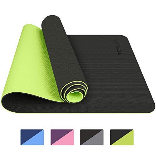 Toplus Yoga Mat, TPE Gymnastics Mat, Training Mat, Non-Slip Pilates Mat, Yoga Fitness Mat with Carry Straps, 183 x 61 x…