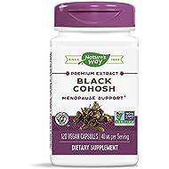 Nature's Way Standardized Black Cohosh, 2.5% Triterpene Glycosides per serving, 40 mg per serving, Non-GMO Project Verified, Gluten Free, Vegetarian, 120 Vegan Capsules