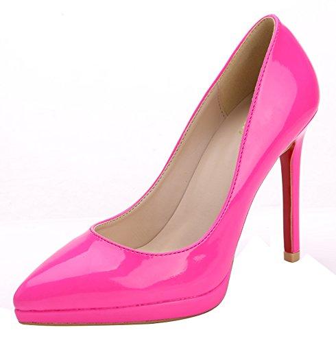 Guoar - Cerrado Mujer - Pink Lackleder