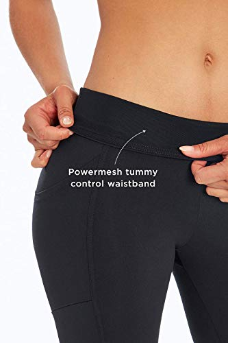 Marika Women's Standard Olivia High Rise Tummy Control Legging, Heather Black, X-Large