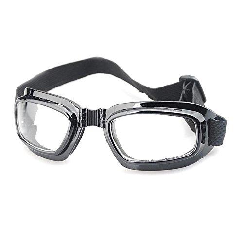 Calistouk Skibrille, faltbar, winddicht, beschlagfrei, Schneebrille für Wintersport, Skifahren, Radfahren, Reiten, Wandern, Laufen, Fahren