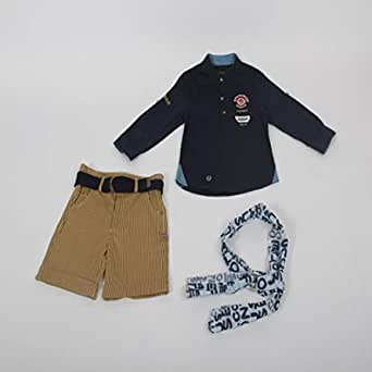 Three-piece boys short with elegant design