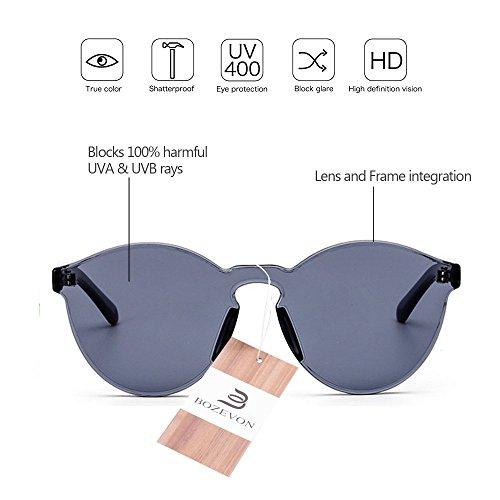 C1 Gris de BOZEVON Lunettes UV400 intégrées Candy chat de Color intégrées soleil Unisexe Œil Lunettes Lunettes Z6Ttwqa6