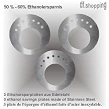 3 ethanol-saving plates - made of stainless steel - for fuel cans by Gel + Ethanol Fire-Places