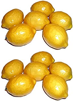 20pcs//Set Artificial Plastic Limes Lemons Fake Fruit Realistic Home Decor Props.