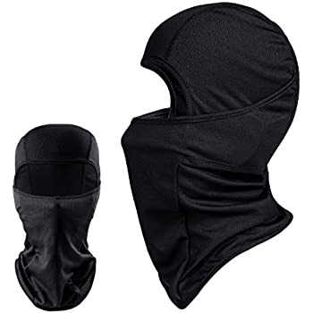 QINGLONGLIN 2 Pack Black Balaclava - Windproof Mask Adjustable Face Head Warmer for Skiing, Cycling, Motorcycle Outdoor Sports