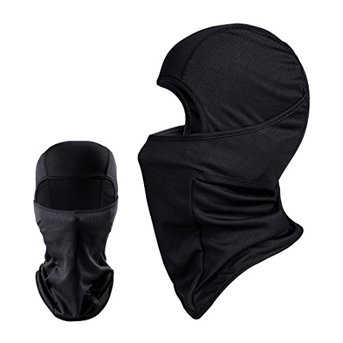QINGLONGLIN 2 Pack Black Balaclava - Windproof Mask Adjustable Face Head Warmer for Skiing, Cycling, Motorcycle Outdoor Sports (Thermal Headwear)