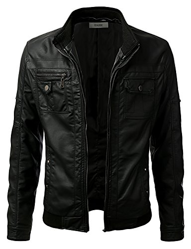 leather hooded jacket - 6