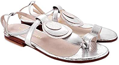 Josefina Ferroni Silver Thong Sandal For Women