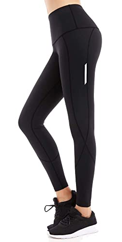 bc66093587734 Amazon.com: FITTIN PRO Yoga High Waist Leggings with Out Pocket - Flex 4  Way Stretch Power Pants for Sports: Clothing