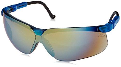 Eyewear Replacement Lens - Uvex S3243 Genesis Safety Eyewear, Vapor Blue Frame, Gold Mirror Ultra-Dura Hardcoat Lens