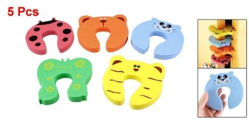 BFlowerYan 5 Pcs Children Safety Finger Pinch Cartoon Animal Foam Door Stopper Cushion