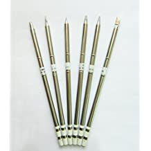 Quality T12/T15 Soldering Tip Set 6PCS T12-BC3/IL/BZ/D12/D24/K For FX951/FX952