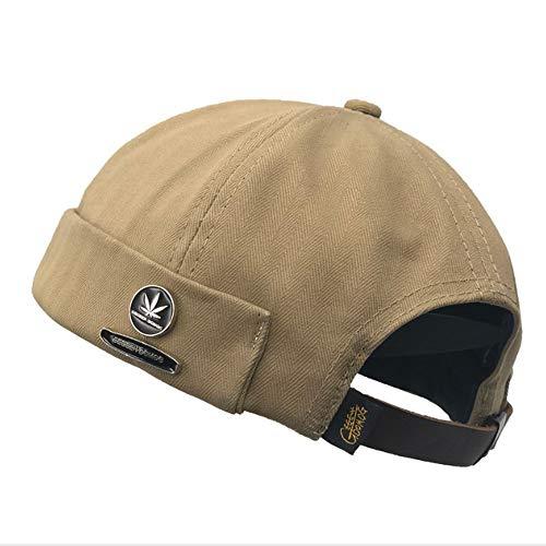 Clape Brimless Docker Cap Rivet Decorated Visor-Less Sailor Skullcap Beanie  Hat 49043d53907d