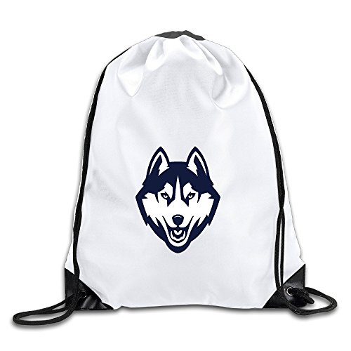 - UConn University Huskies Logo Port Bag Drawstring Backpack