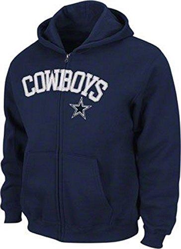 Dallas Cowboys Youth Navy Dive Full Zip Fleece Hoodie