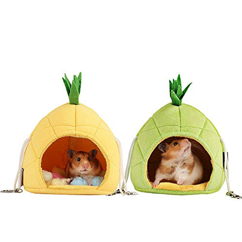 Oncpcare 2 Pack of Sugar Glider Cage Accessories Hammock, Hamster Bedding, Rats Hamster House Toys for Small Animals Sugar Glider Squirrel Hamster Rat Playing Sleeping Resting