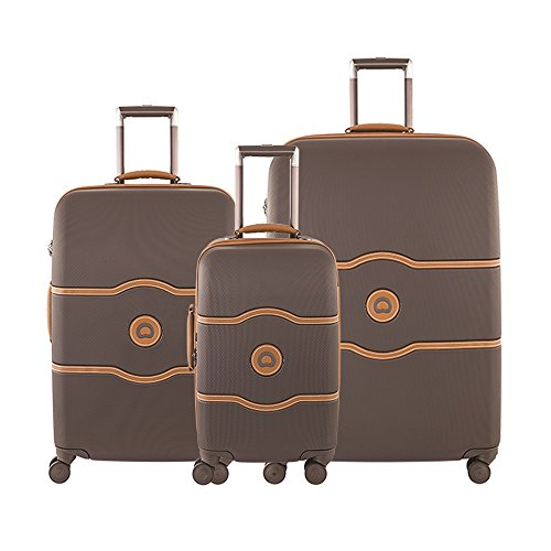 Delsey Paris Luggage Chatelet Hard+ 3 Piece Set Spinner (Brown)