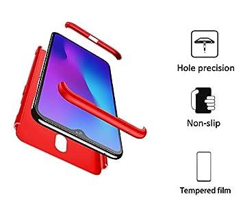 FMPC Funda Compatible con Oneplus 6T, Caso Carcasa Oneplus 6T Slim Fit 360 Grados 3 in 1 Todo Incluido Protección Cover Anti-Rasguño con HD Protector ...