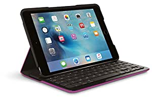 logitech focus protective case with integrated keyboard for ipad mini 4 violet. Black Bedroom Furniture Sets. Home Design Ideas