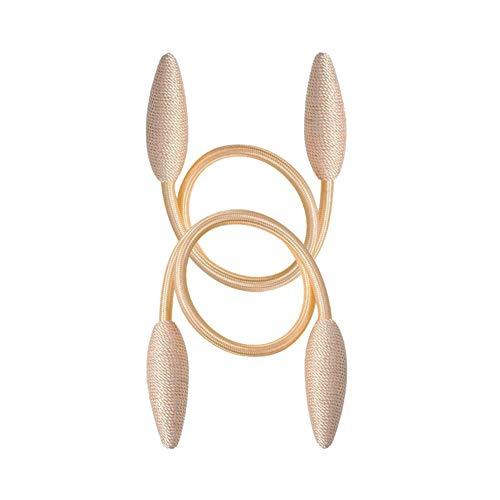 EleCharm 2-Pack Creative Curtain Tiebacks Random Modelling Curtain Holdbacks European Simple Type (Gold)