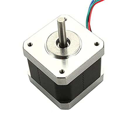 HITSAN 10Pcs Nema17 Stepper Motor with Skidproof Shaft Four Wire Two-phase 1.8 For 3D Printer RepRap One Piece