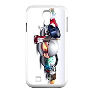 Samsung Galaxy S4 9500 Cell Phone Case White Smileys Music Play H9W5VF