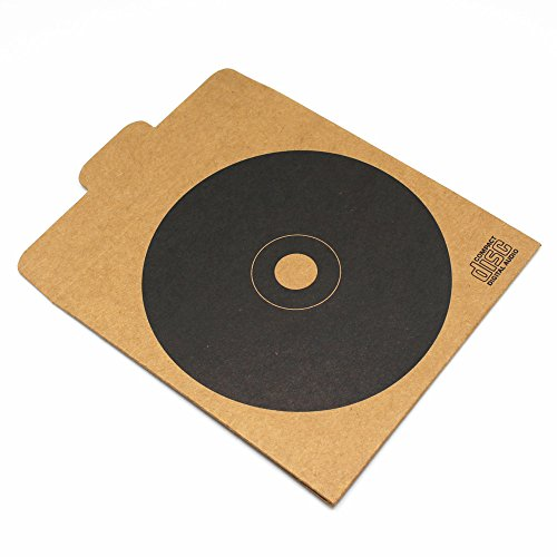 12.5x12.5cm (4.9''x4.9'') Kraft Paper CD DVD Packaging Bag Storage Box Retail CD Case Cover Holder Envelope For Wedding Birthday Party CD Packaging Bag (280, Black) by BAT Pack