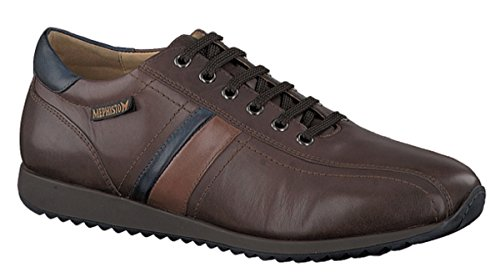 Mephisto Mens Presley Dark Brown/Chestnut Leather Casual Oxford, Size 10 M (Brown Leather Presley)