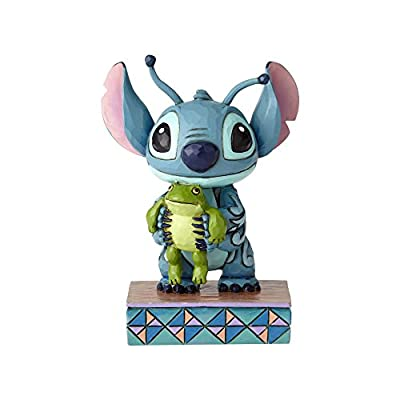 """Enesco 4059741 Disney Traditions by Jim Shore """"Lilo and Stitch"""" Stich and Frog Stone Resin, 4"""" Figurine, 4 Inches, Multicolor"""
