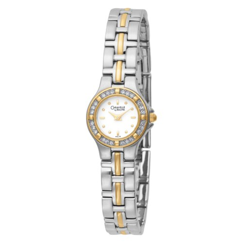 Caravelle by Bulova Women's 45L75 Crystal Accented White Dial Watch