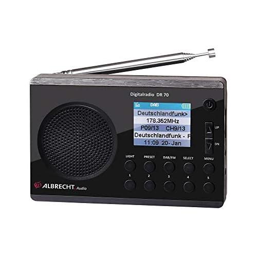 chollos oferta descuentos barato Albrecht 27370 Radio Digital Dab FM 230 V batería Color Negro