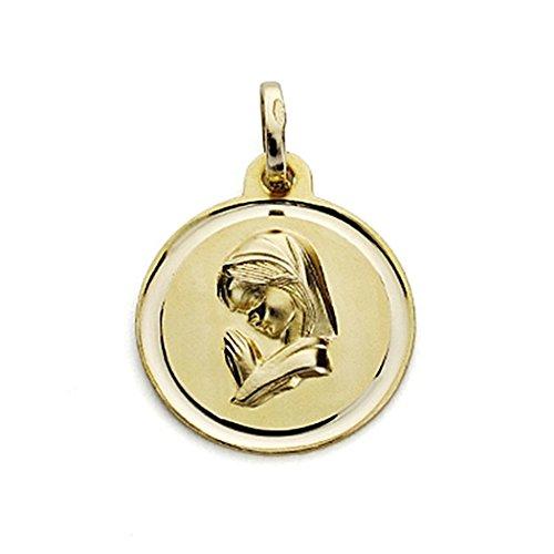 18k médaille d'or Virgin Nina 16mm. chanfrein [7566]
