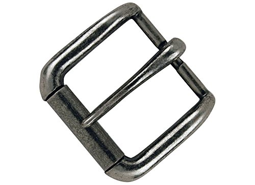 Nickel Finish Various Sizes Dangerous Threads Heavy Duty Roller Buckle 2 Pieces, Nickel - 2
