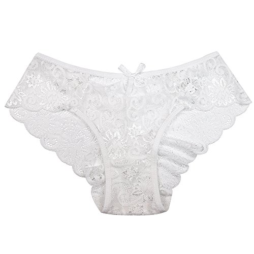 106aa86c4aac Pack of 5,Women Lace Panties Sexy Underwear Ultra Thin Briefs S M L ...