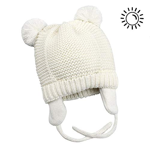 0a8df0677496bf Century Star Soft Warm Knitted Bear Infant Baby Beanies Hats Caps Adorable  Cozy Chunky Winter Earflap