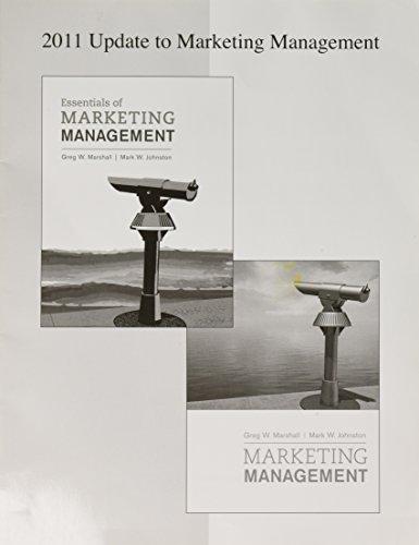 2011 Update to Marketing Management