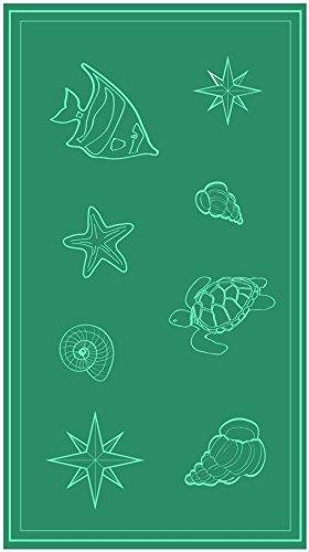 So My Home Toalla de playa de terciopelo, algodón puro, talla XXL 100 x 200 cm, diseño Sail, algodón: Amazon.es: Hogar