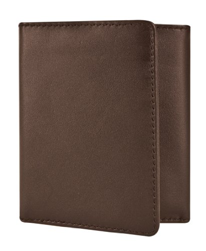 Travelon Rfid Blocking Leather Trifold Wallet, Brown, One Size