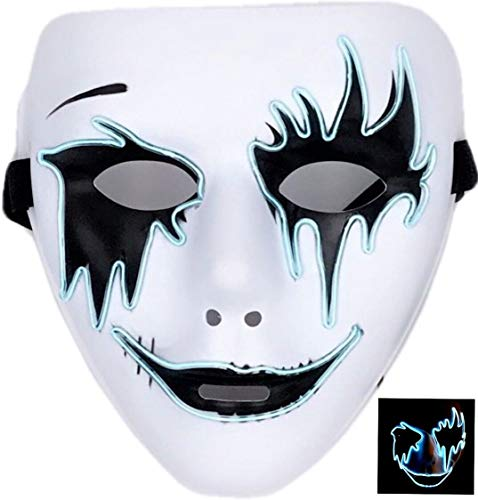 Circle Circle El Wire Glowing LED Halloween Masks (Sky -