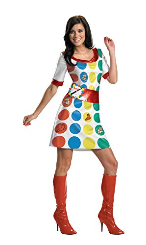 Twister Costume Women (UHC Women's Twister Outfit Funny Comical Theme Fancy Dress Halloween Costume, S (4-6))